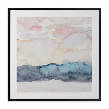 """Hebridean Sunset No 1 Wall Art By Minted®, 8""""X8"""", Black - Pottery Barn Teen"""