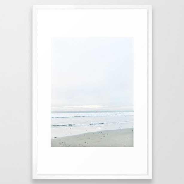 Beach Scene Framed Art Print - Society6