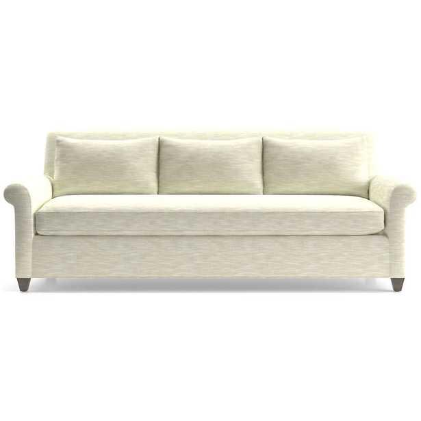 Cortina Sofa - Fabric: Winward, Sand Leg:Smoke Cushion:Natural Lee - Crate and Barrel