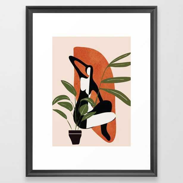 Abstract Female Figure 20 Framed Art Print - Mediume - Society6