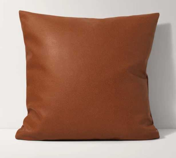 Faux Leather Pillow - w/ pillow insert - Burrow