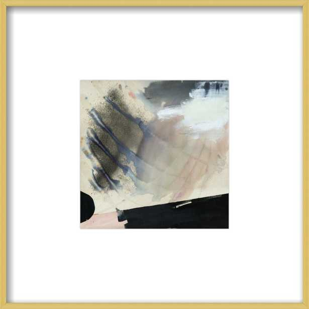"""Alms  BY KARINA BANIA- 8x8""""-  Frosted Gold Metal Frame- With Matte - Artfully Walls"""