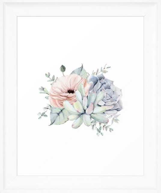 Pretty Succulents by Nature Magick Framed Art Print - Society6