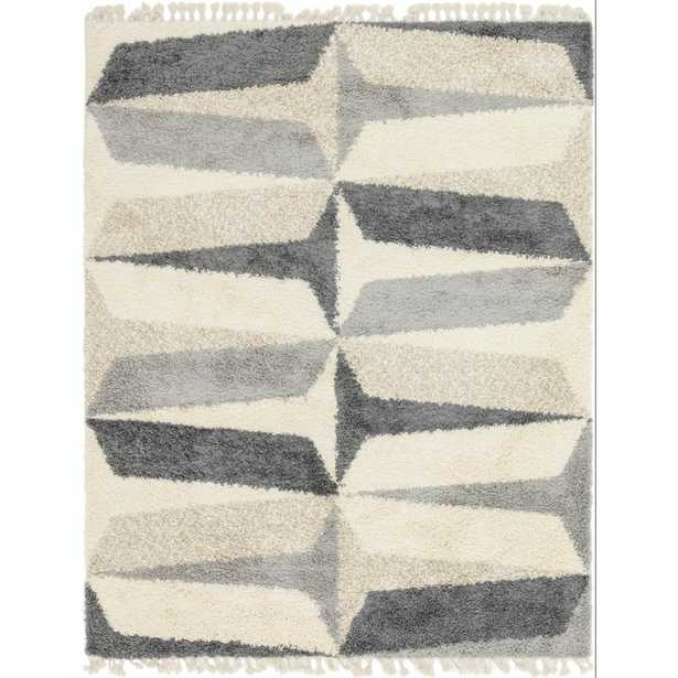 Unique Loom Hygge Balance Gray Ivory 8' x 10' Rug - Home Depot
