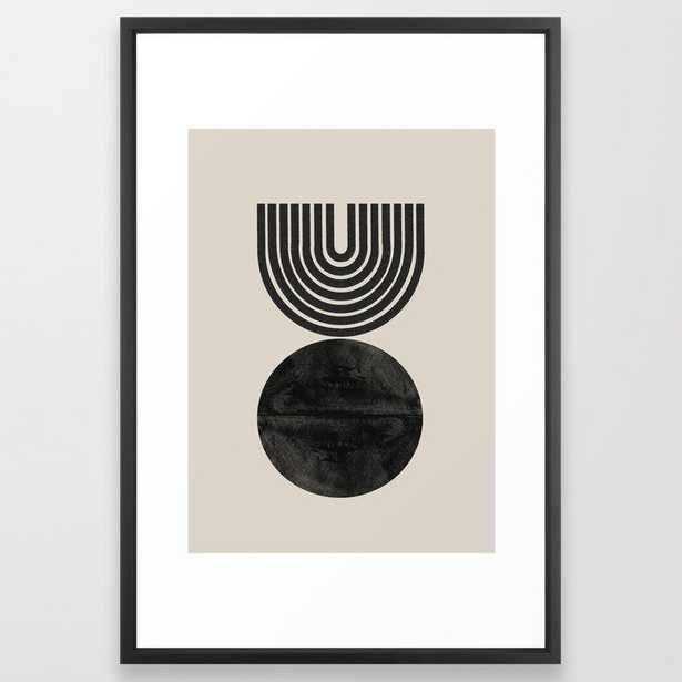 "Woodblock Print - 26"" x 38"" - vector black - Society6"