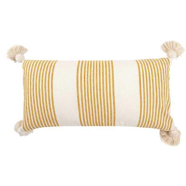 Turin Rectangular Cotton Pillow Cover and Insert-Mustard - Wayfair