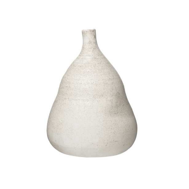 Large Textured Terracotta Vase with Narrow Top - Nomad Home