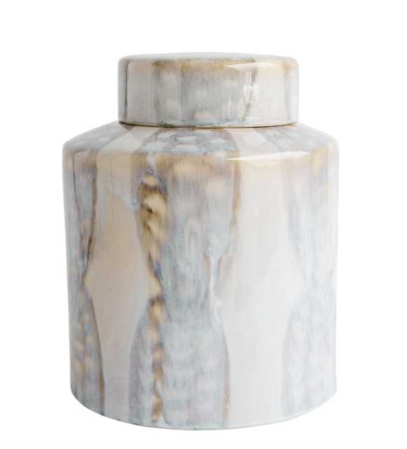 REACTIVE GLAZED GINGER JAR - SMALL - McGee & Co.
