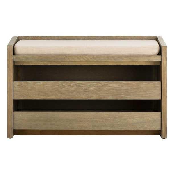 Byron Wood Storage Bench - AllModern