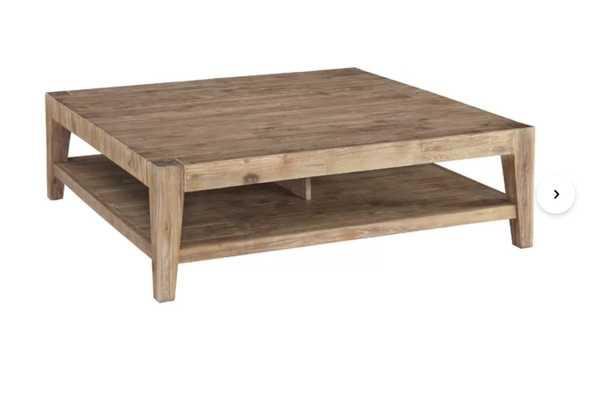 Savannah Solid Wood Coffee Table with Storage - IN STOCK 6/8/21 - Wayfair