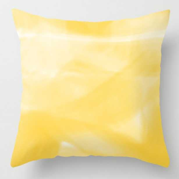 """Yellow Pillow - 16"""" x 16"""" with Insert - Society6"""