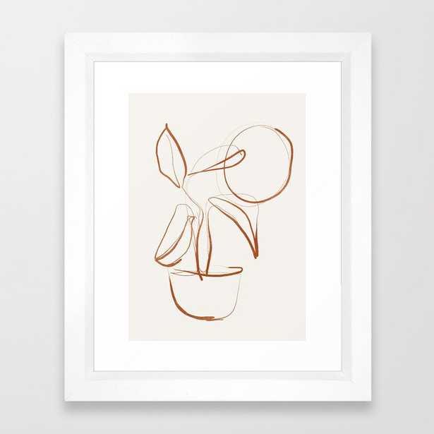 Abstract line art /Plant2 Framed Art Print - Society6