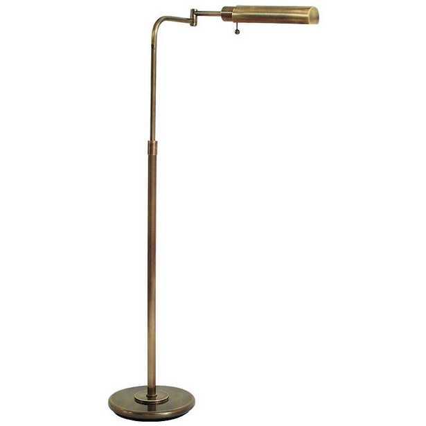 House of Troy Swingarm Pharmacy Antique Brass Floor Lamp - Lamps Plus
