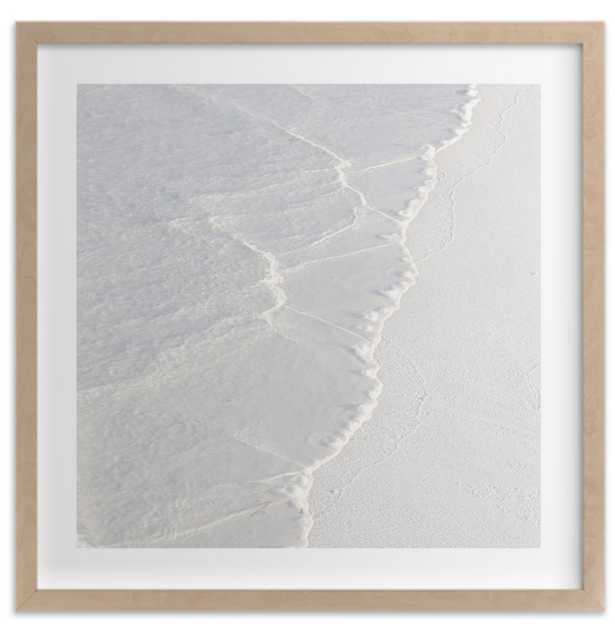 White Water, 44x44, raw wood frame - Minted