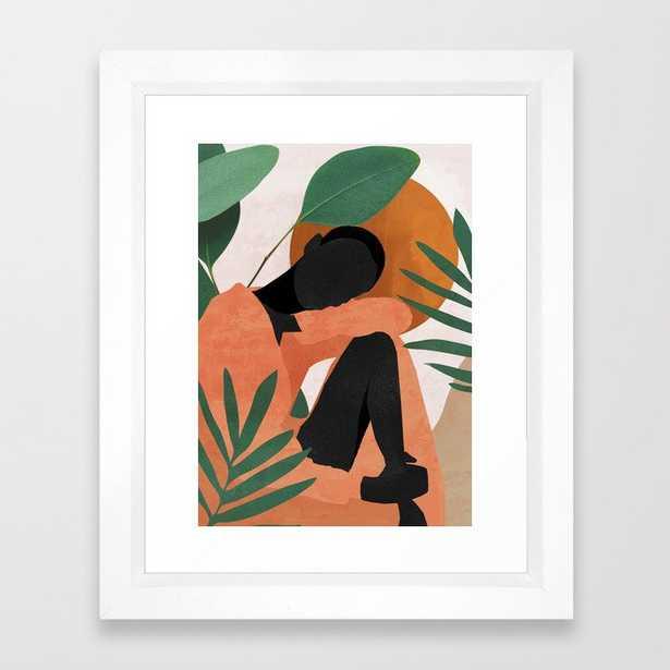 Tropical Girl 10 Framed Art Print, Vector White, 10 x 12 - Society6