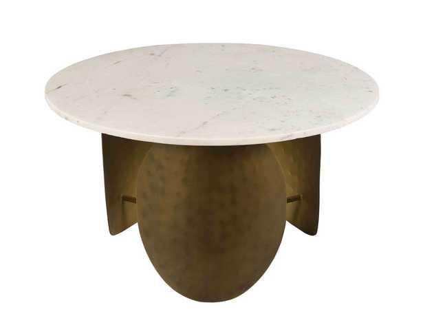 Indio Marble Cocktail Table, White - Studio Marcette