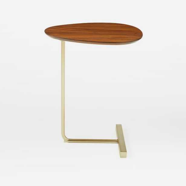 Charley C-Side Table: Walnut / Antique Brass - West Elm