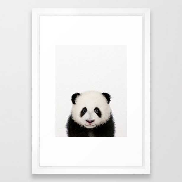 """Baby Panda, Baby Animals Art Print By Synplus Framed Art Print with Vector White Frame - 15""""x21"""" - Society6"""