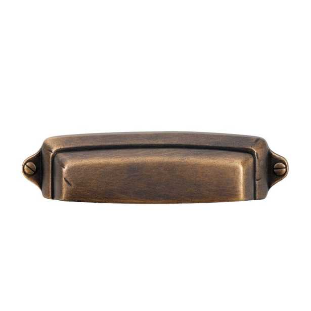 Grayson 2-1/2 in. Vintage Brass Cup Pull - Home Depot