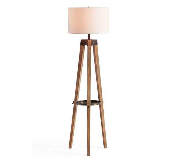 Miles Tripod Floor Lamp, Honey/Bronze - Pottery Barn