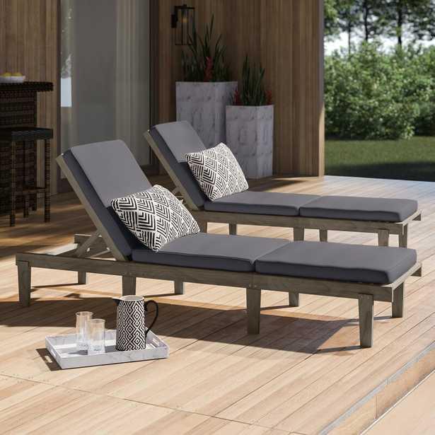 Ardsley Sun Lounger Set with Cushions (Set of 2) - Wayfair