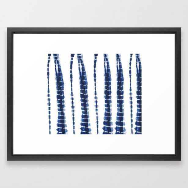 Indigo Blue Tie Dye Delight Framed Art Print - Society6
