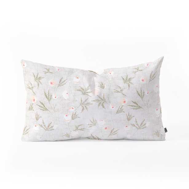 FRENCH LINEN ANEMONE LIGHT Pillow - Wander Print Co.
