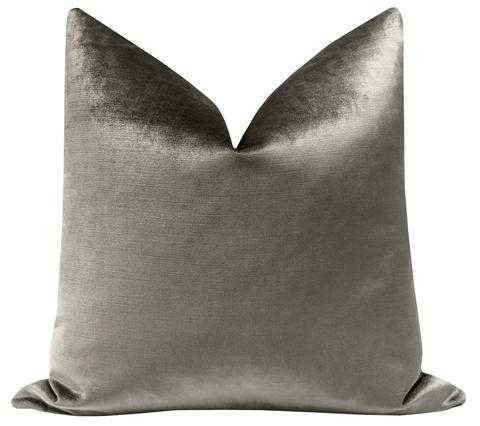 """Faux Silk Velvet // Quartz - 22"""" X 22"""" Pillow Cover - Little Design Company"""