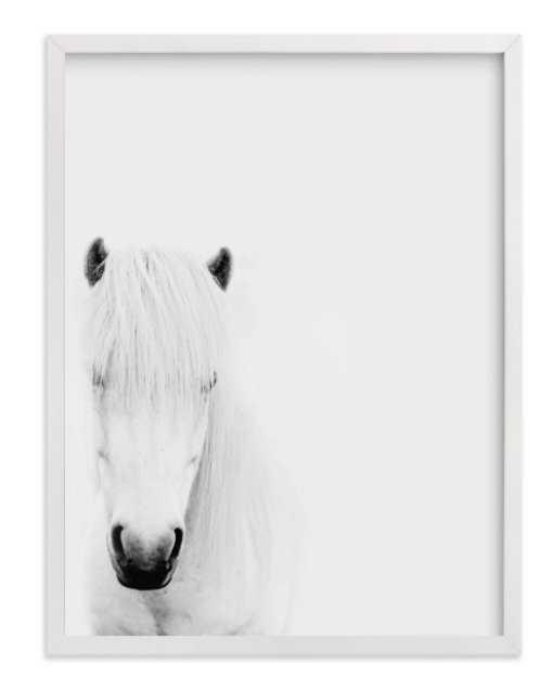 Dalla Framed White Horse - Minted