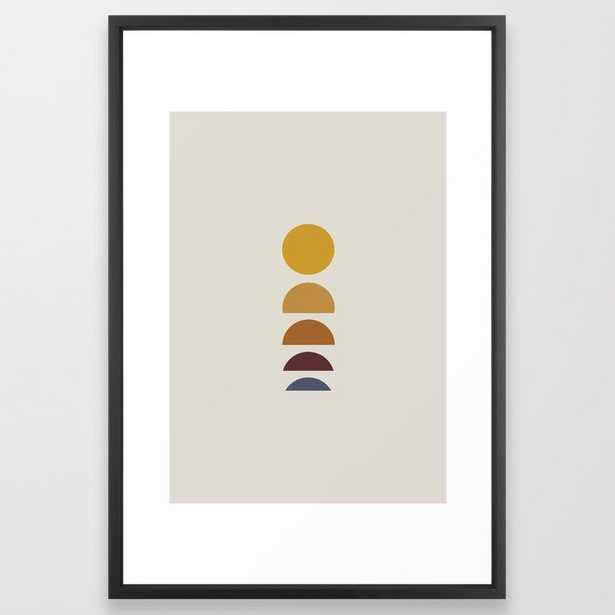 Minimal Sunrise / Sunset Framed Art Print - 15x 21 - Society6