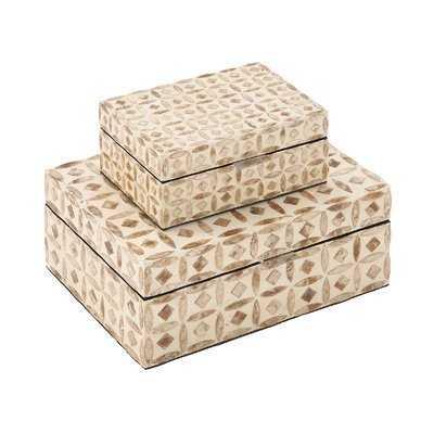 Jodi 2 Piece Decorative Inlay Box Set - Wayfair