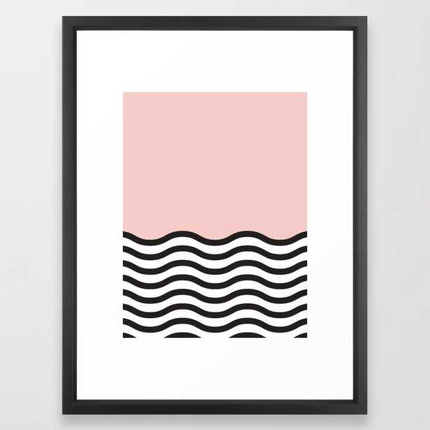 Waves of Pink - Vector Black - Society6