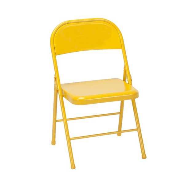 Metal Folding Chair (Set of 2) - Wayfair
