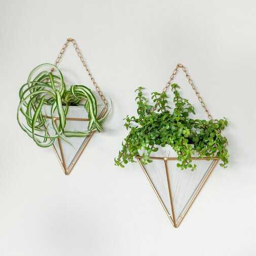 Jemaine Pocket Hanging 2 Piece Wall Planter Set - Wayfair