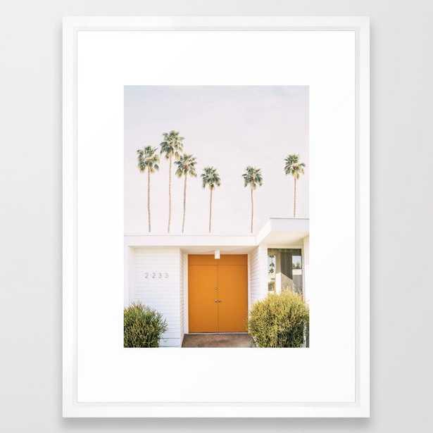 """Palm Springs Framed Art Print, 20"""" x 26"""", Vector White - Society6"""