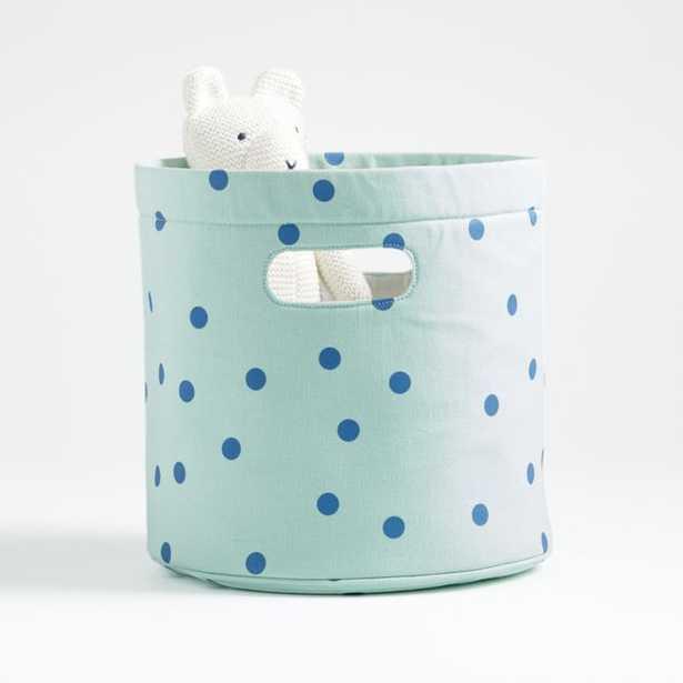 Mint Polka Dot Storage Bin - Crate and Barrel