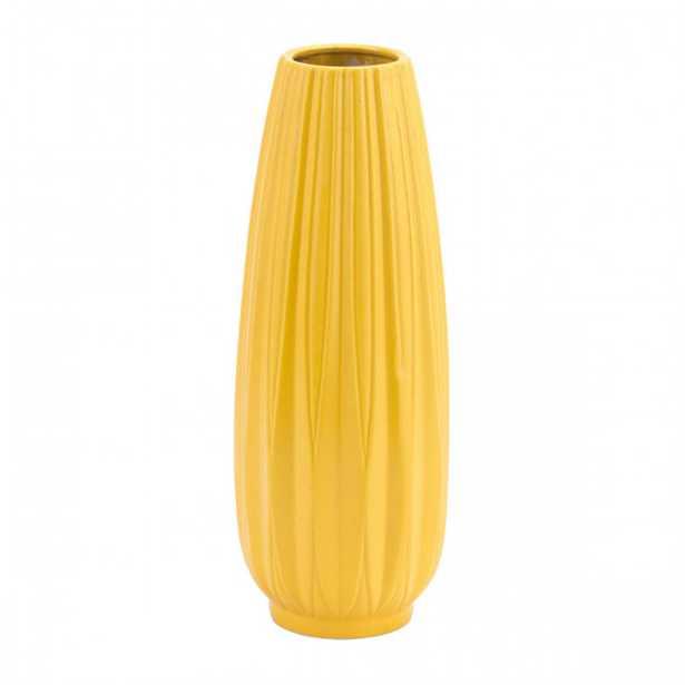 Acacia Lg Vase Yellow - Zuri Studios