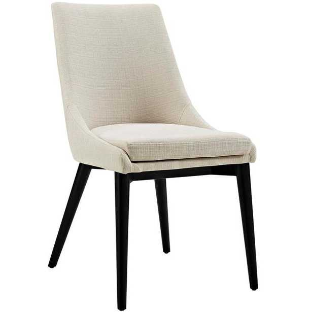 VISCOUNT FABRIC DINING CHAIR IN BEIGE - Modway Furniture