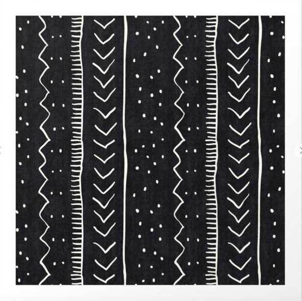 Moroccan Stripe in Black and White Art Print - Society6