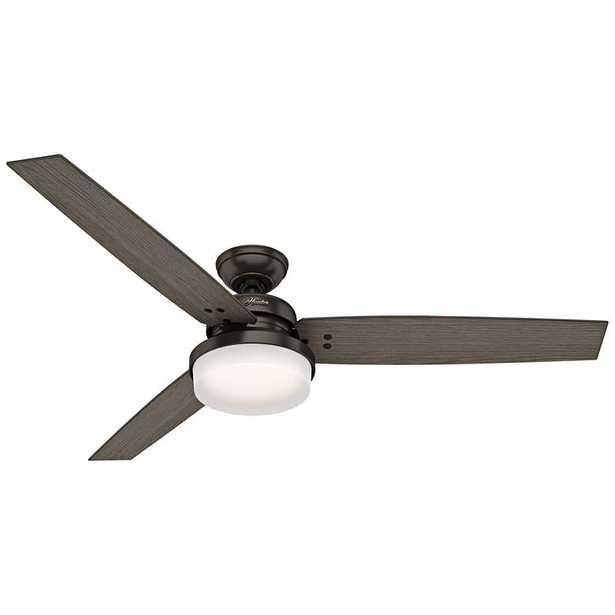 "60"" Hunter Sentinel Premier Bronze LED Ceiling Fan - Lamps Plus"