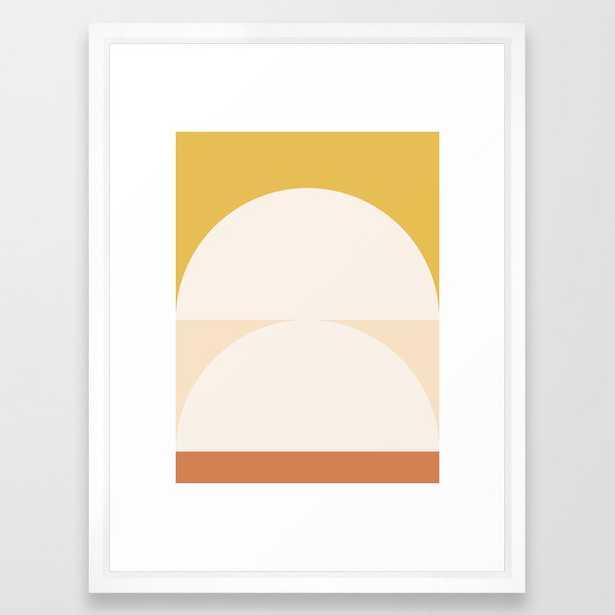 "Abstract Geometric 01 Framed Art Print, 20"" x 26"" - Society6"