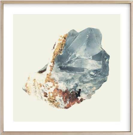 "Rock Study 2 fluorite 24"" x 24"" Matte Brass Frame, White border - Minted"