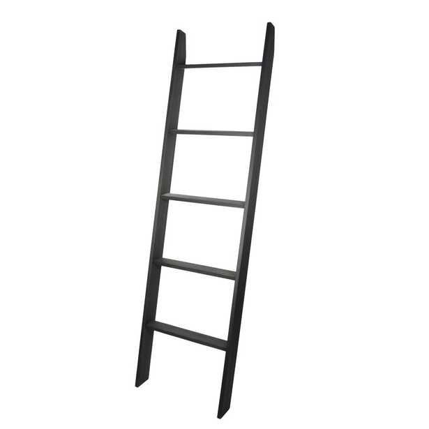 Lucus 72 in. Ebony Wooden Decorative Blanket Ladder - Home Depot