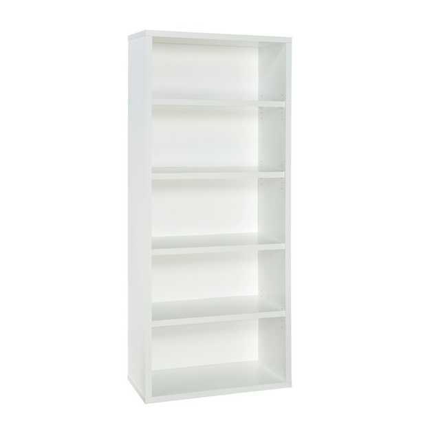 Decorative 6 Shelf Standard Bookcase (white) - Wayfair