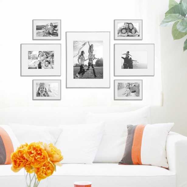 7 Piece Busireddy Decorative Steel Picture Frame Set - Wayfair