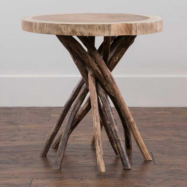 Mader Solid Wood Tree Stump End Table - Wayfair