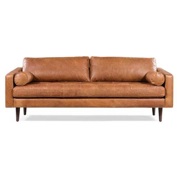 Kate Leather Sofa - Wayfair