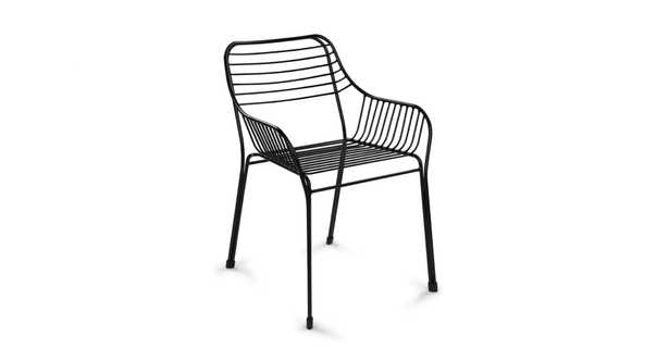 Caya mondo black dining armchair (set of 2) - Article