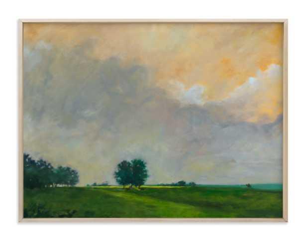 """Together at Sunrise Art- 40""""x30""""-matte brass frame - Minted"""
