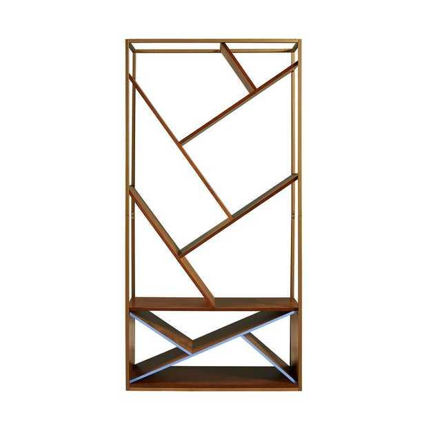 Boris Geometric Bookcase - Wayfair
